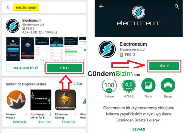 Electroneum Mobile Mining Uygulması
